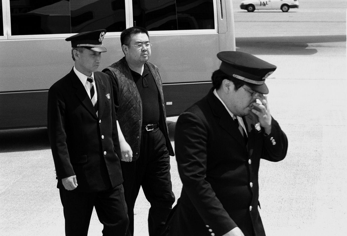 日本の入国管理局で拘束された際の金正男氏 写真提供:五味洋治