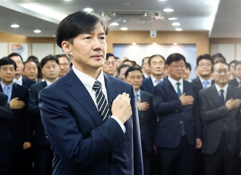 法相に任命された曺国氏 ©代表撮影/Lee Jae-Won/アフロ