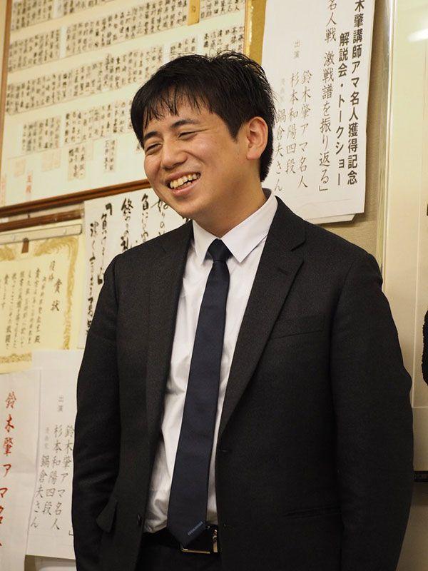 「アマ名人獲得記念イベント」での鈴木肇(写真提供:藤田なつき)