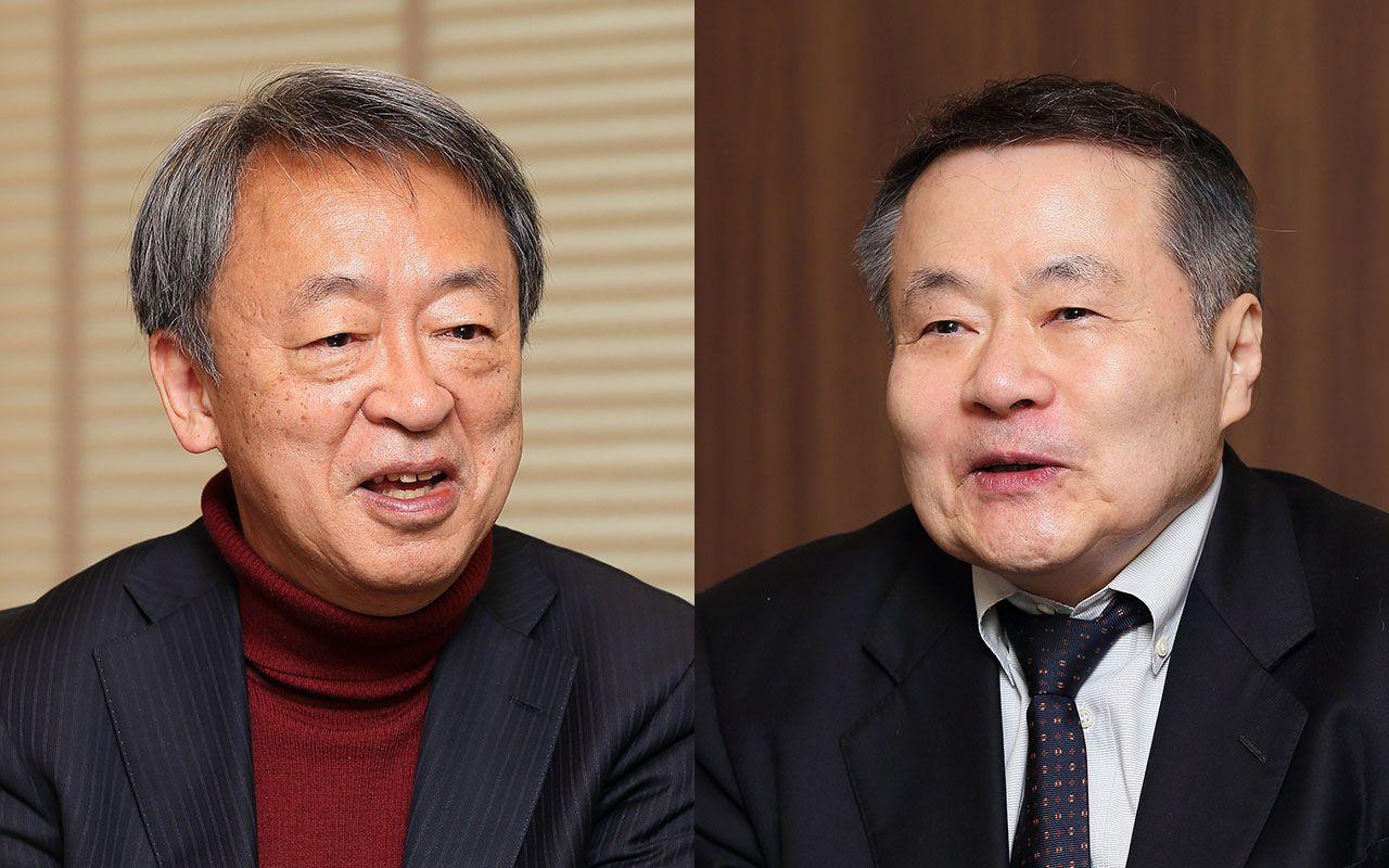 池上彰氏(左)と吉野源太郎氏(右) ©文藝春秋