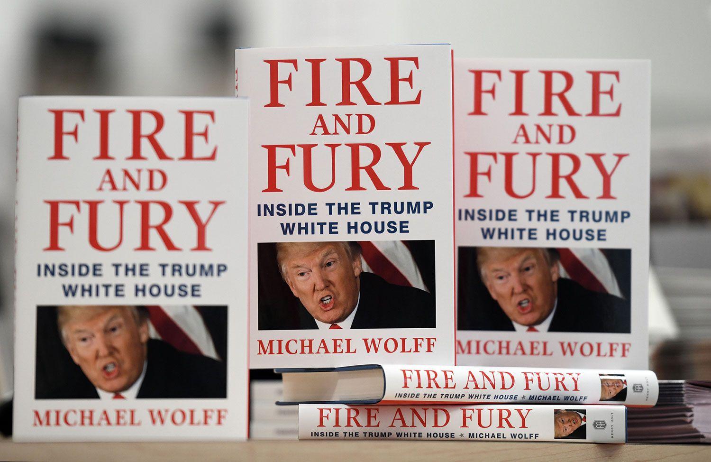 書店に並んだトランプの暴露本『Fire-and-Fury』 ©ABACA-PRESS時事通信フォト
