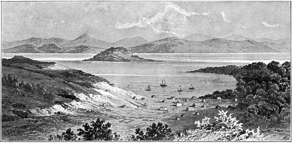1848年11月のサンフランシスコ。ゴールドラッシュ後、カリフォルニアは劇的に発展した ©getty