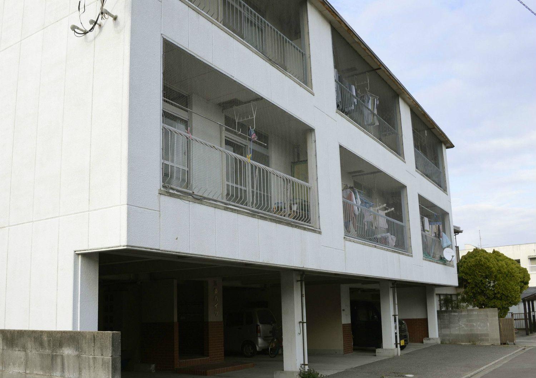 結愛ちゃんがかつて住んでいた香川県のアパート ©共同通信社
