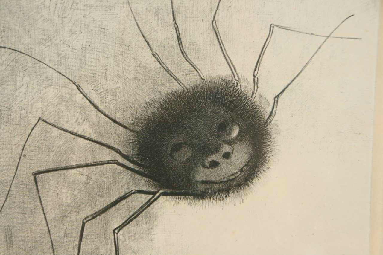 《蜘蛛》(部分)1887年 岐阜県美術館