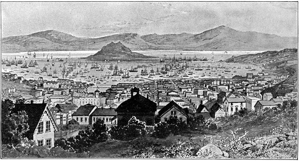 1858年のサンフランシスコ ©getty