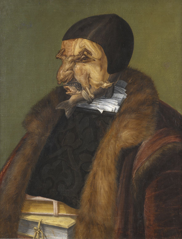 ジュゼッペ・アルチンボルド《法律家》 1566年 油彩/カンヴァス ストックホルム国立美術館蔵 ©Photo: Hans Thorwid/Nationalmuseum