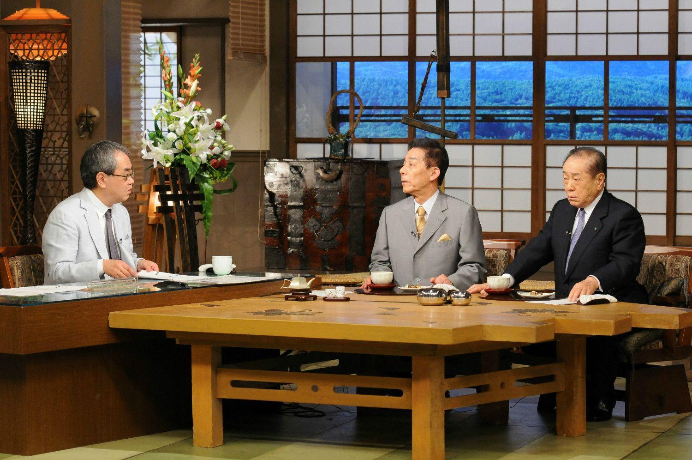 「時事放談」2013年5月26日放送 古賀誠氏と野中広務氏がゲストの回 TBS提供