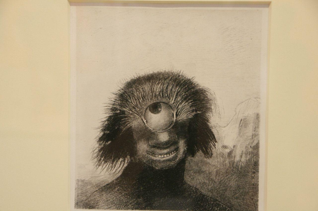《Ⅲ.不恰好なポリープは薄笑いを浮かべた醜い一つ目巨人のように岸辺を漂っていた『起源』》1883年 岐阜県美術館