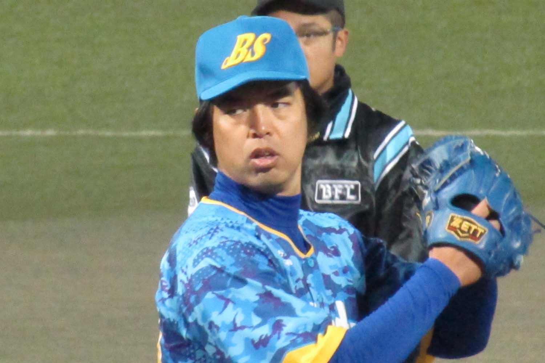 兵庫ブルーサンダーズOBチームとして登板した井川慶 ©SAZZY