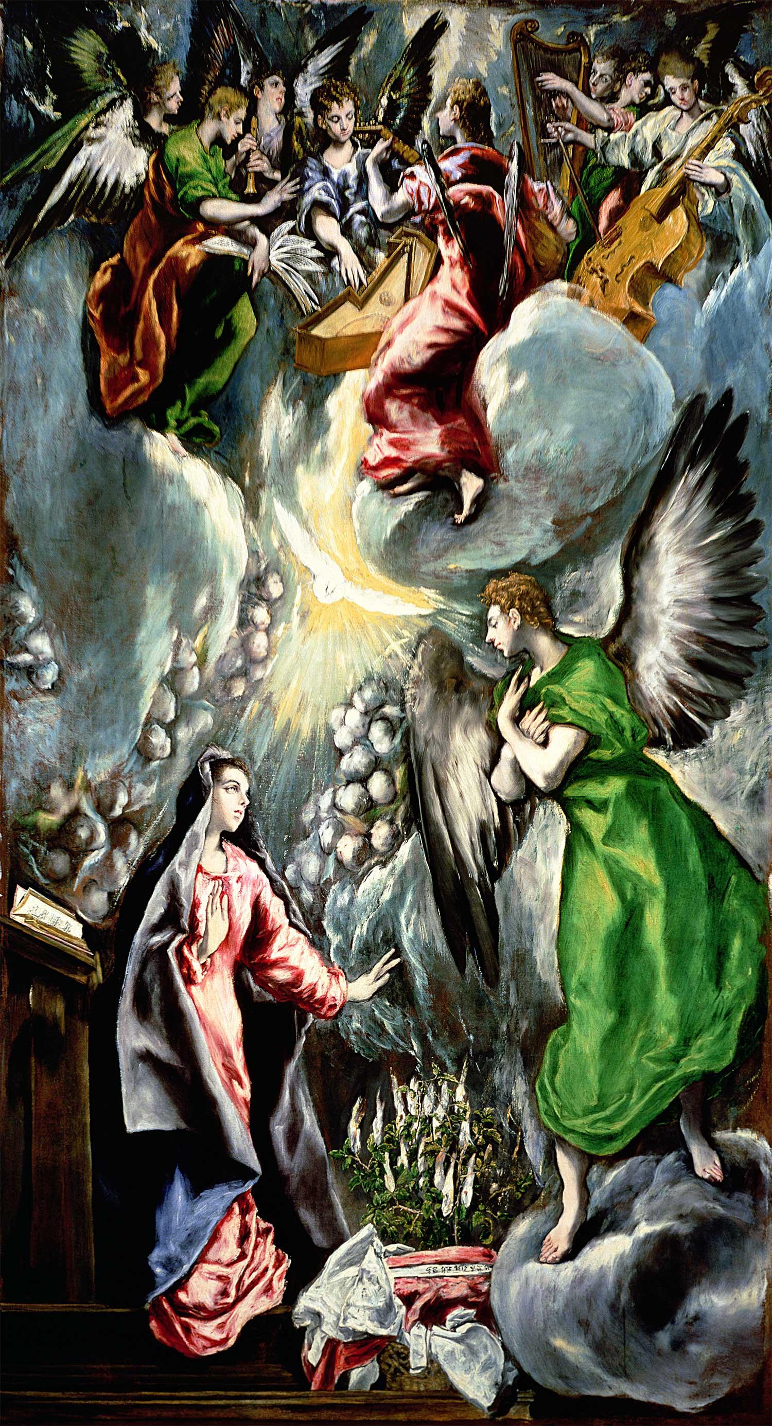 「受胎告知」1597~1600年、油彩、315×174cm プラド美術館 ©ユニフォトプレス