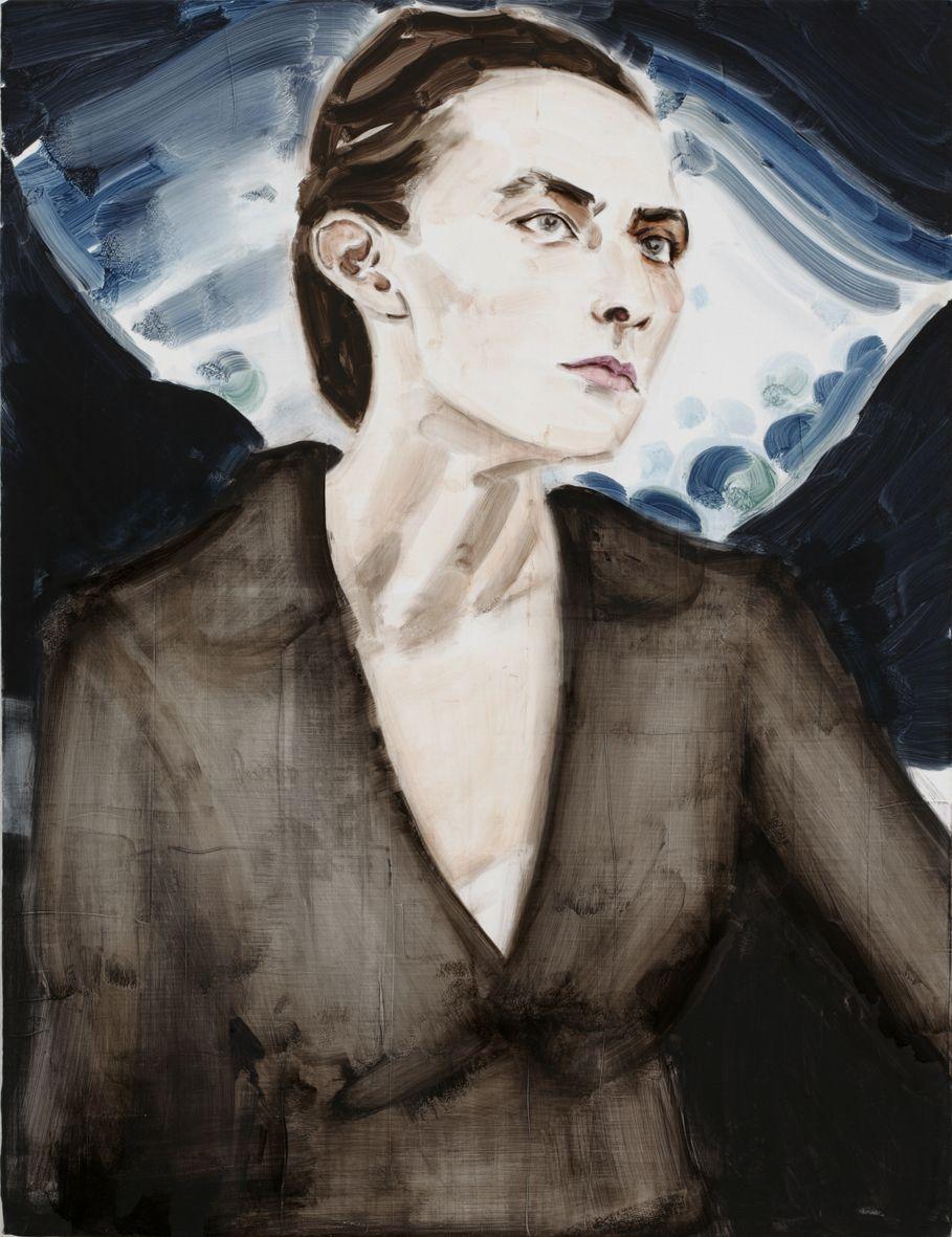 「Georgia O'Keeffe after Stieglitz 1918」 2006 カンヴァスに油彩 76.5×58.7cm Collection David Teiger Trust © Elizabeth Peyton, courtesy Sadie Coles HQ, London; Gladstone Gallery, New York and Brussels; neugerriemschneider, Berlin