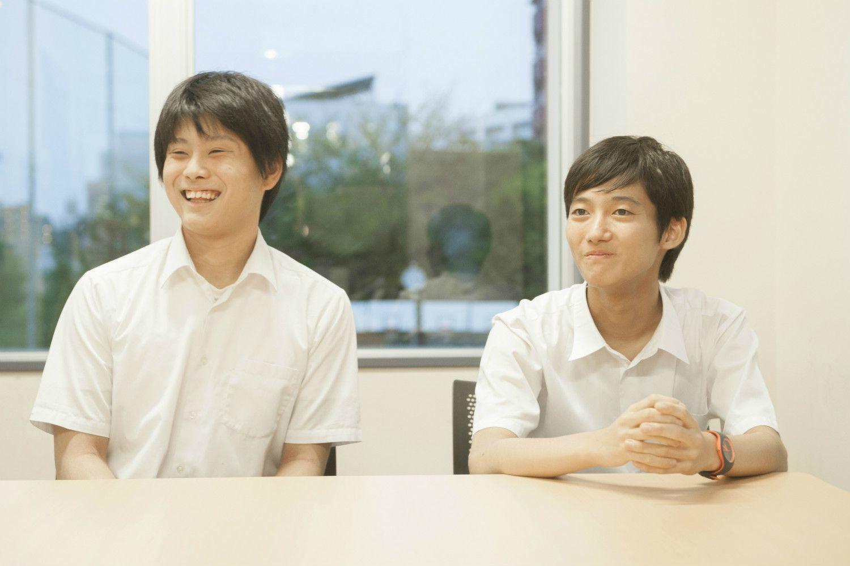植田くん(左)と後藤くん(右)