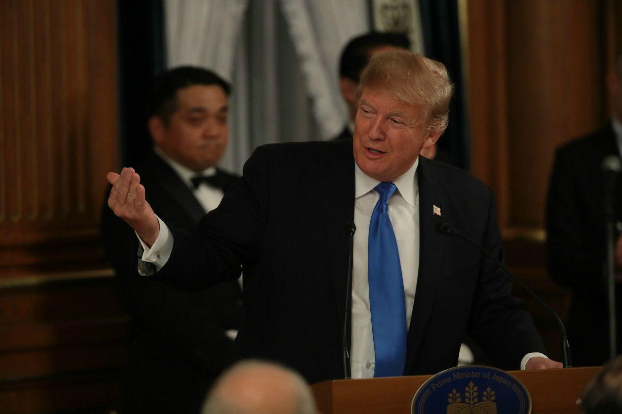 アメリカのトランプ大統領 ©JMPA