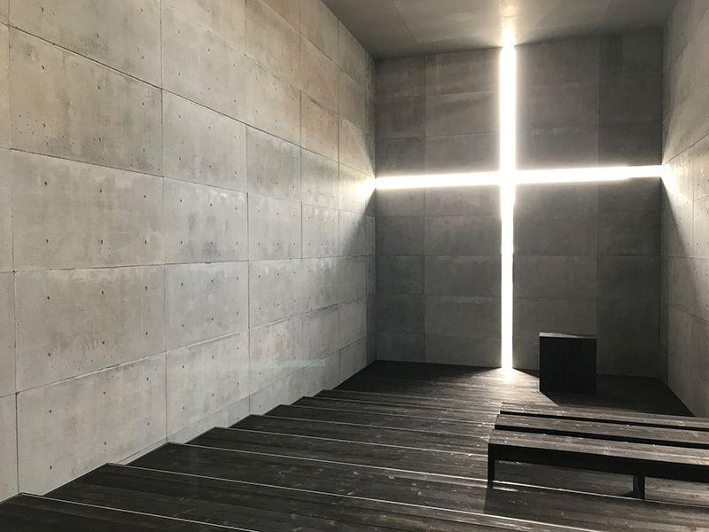 「光の教会」原寸大モデル
