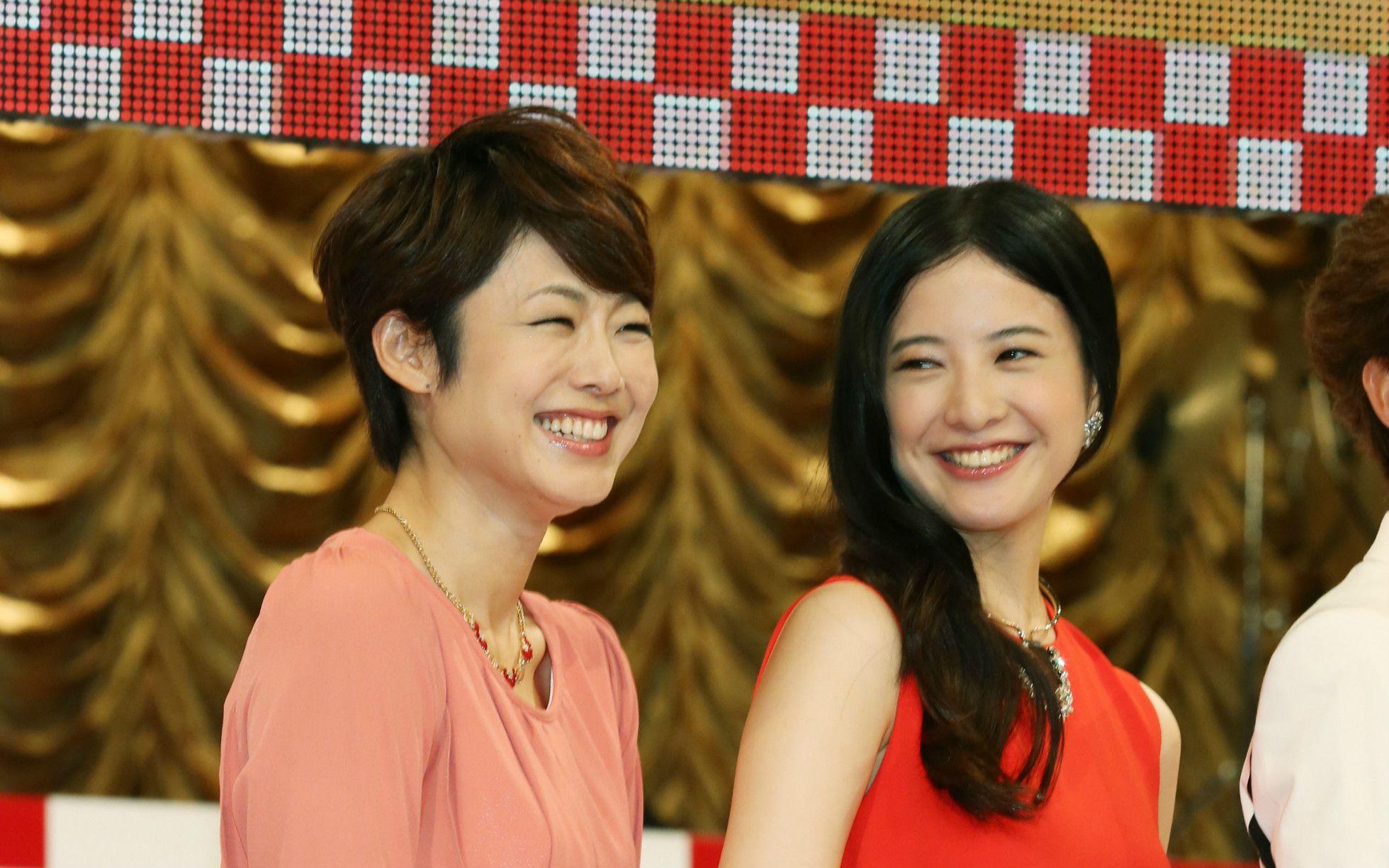 紅白司会の常連でもある。第65回NHK紅白歌合戦にて ©時事通信社