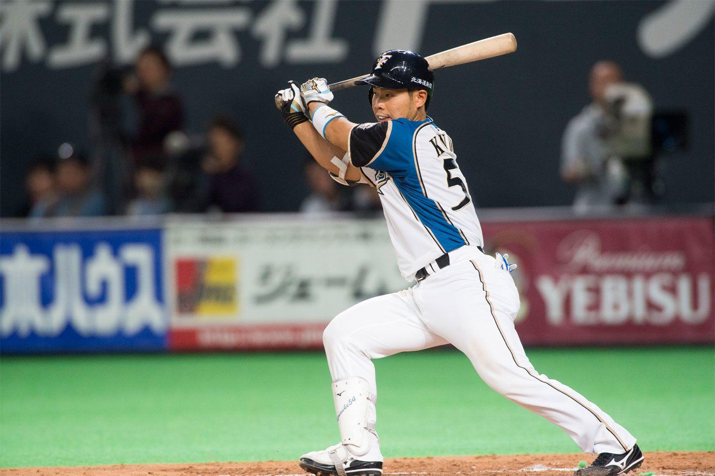 5月23日現在、リーグトップの打率.420をマークしている近藤健介 ©文藝春秋