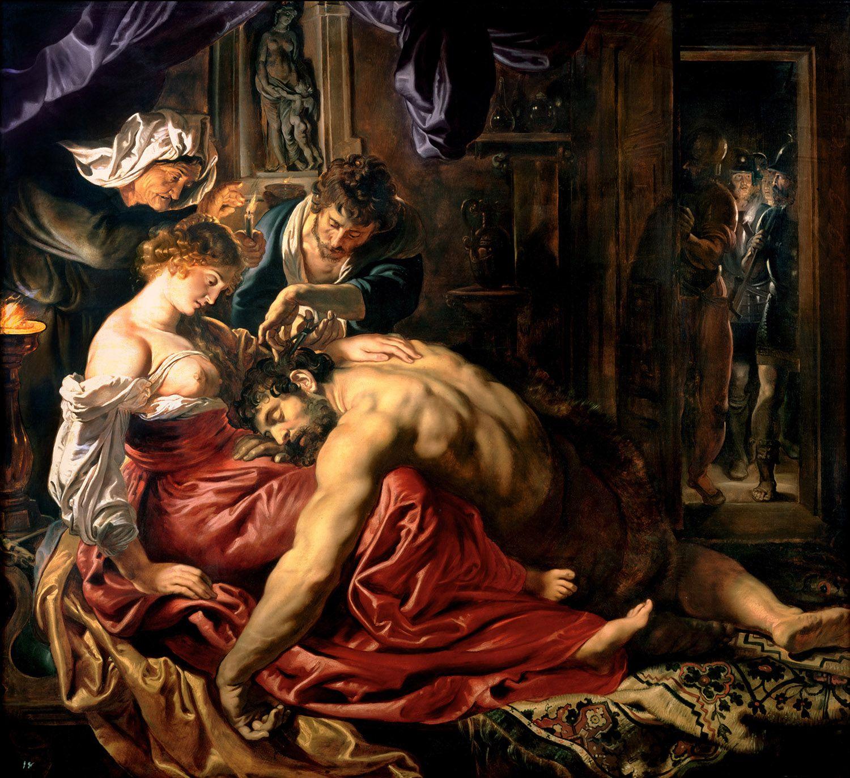 サムソンとデリラ 1610年、油彩、185×205cm ロンドンナショナルギャラリー ©ユニフォトプレス