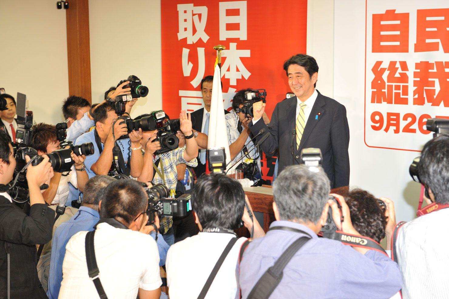2012年自民党総裁選挙 ©文藝春秋