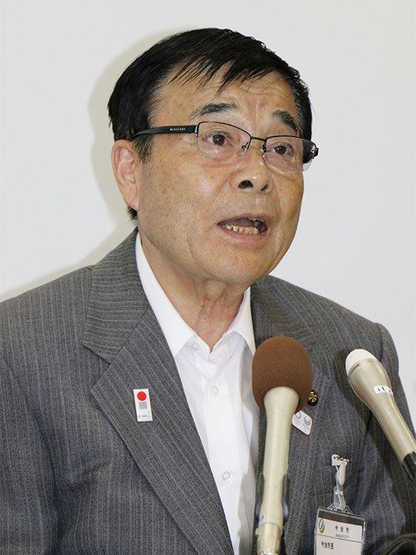 菅良二市長 ©共同通信社