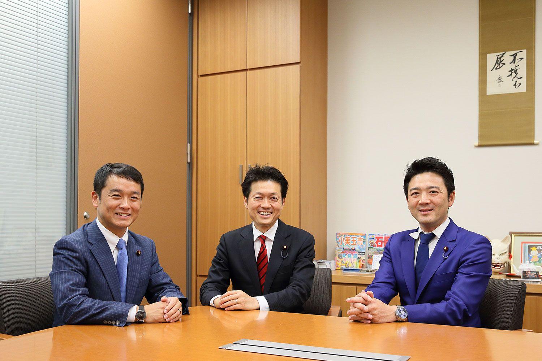 左から青山大人(あおやま・やまと/39歳)、森田俊和(もりた・としかず/43歳)、関健一郎(せき・けんいちろう/39歳)