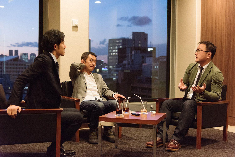 左から東海テレビ・土方宏史さん、ネツゲン・大島新さん、NHKエデュケーショナル・佐々木健一さん