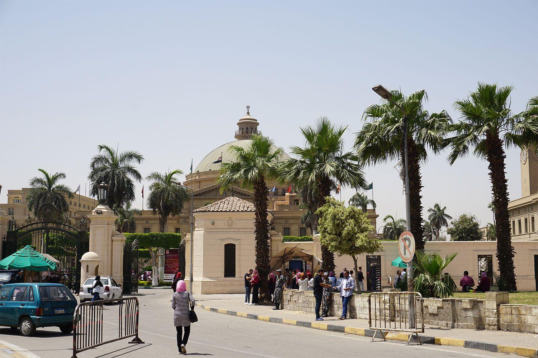 エジプトの最高学府・カイロ大学 ©文藝春秋