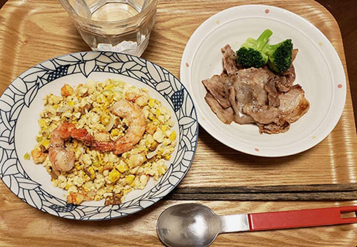 ヘルシーな豆腐チャーハン