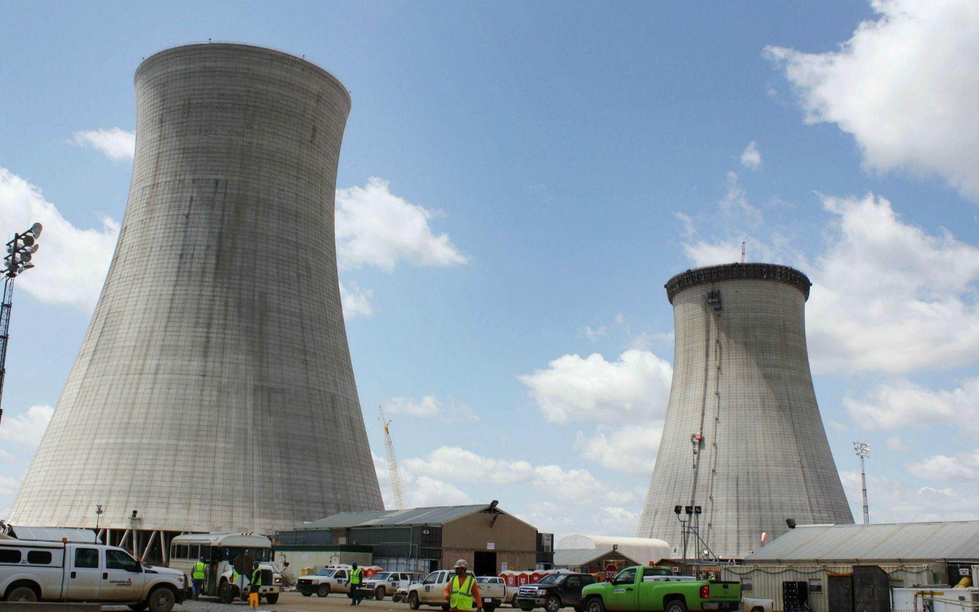 WHが手がける米・ボーグル原子力発電所 ©共同通信社