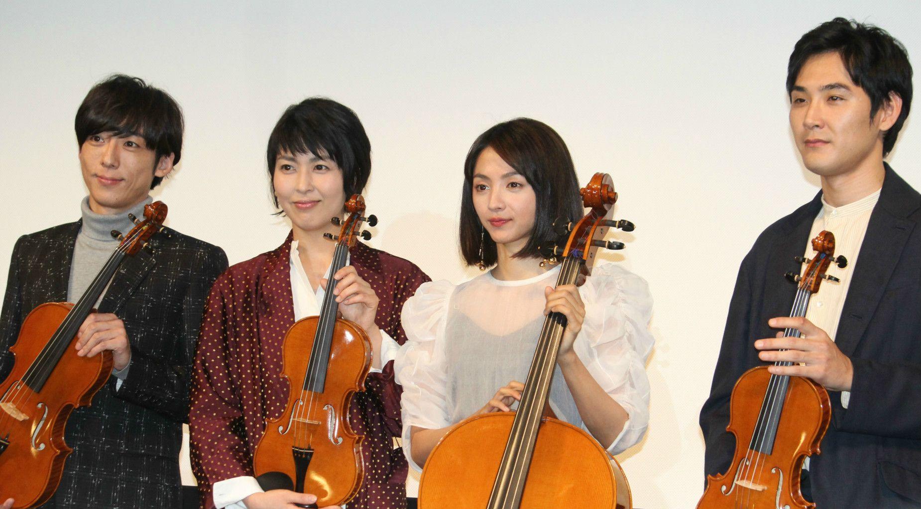 「カルテット」の4人 左から高橋一生、松たか子、満島ひかり、松田龍平 ©共同通信社