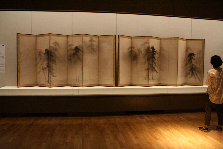 長谷川等伯《松林図屏風》16世紀 東京国立博物館