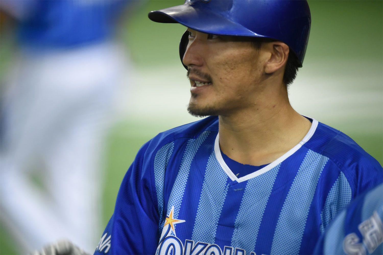 5月9日現在、リーグトップタイの7本塁打を放っている梶谷隆幸 ©文藝春秋
