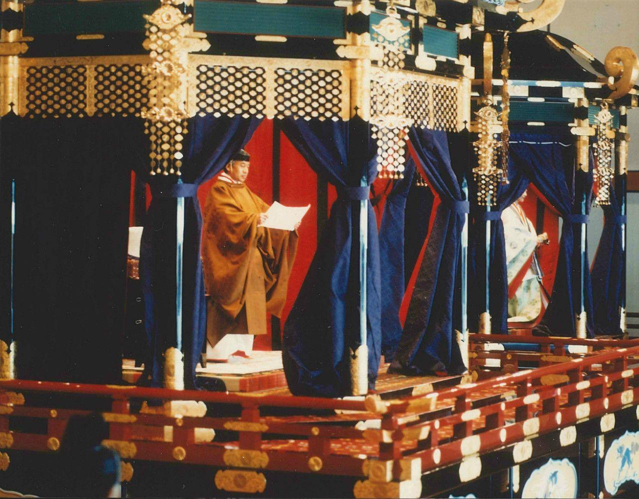 即位礼正殿の儀 宮内庁提供