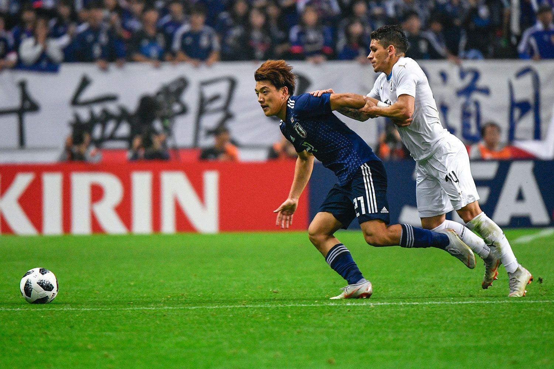 今年のキリンカップで日本代表デビューを果たした堂安 ©文藝春秋