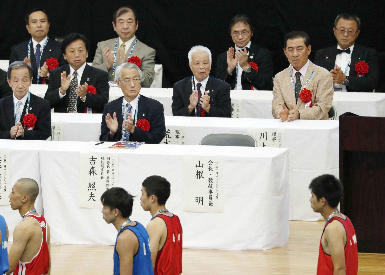 欠席も話題となった日本ボクシング連盟の山根会長 ©共同通信社