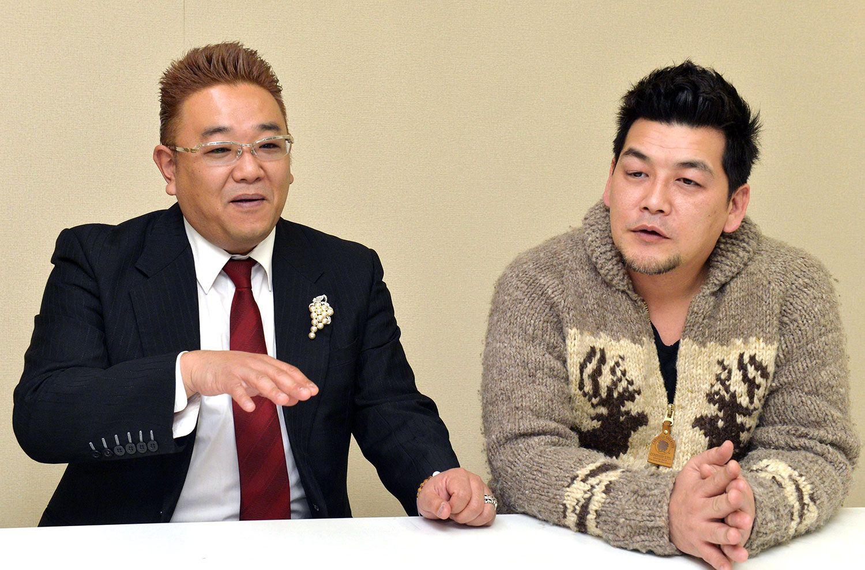 サンドウィッチマン 左:伊達みきお/右:富澤たけし ©共同通信社