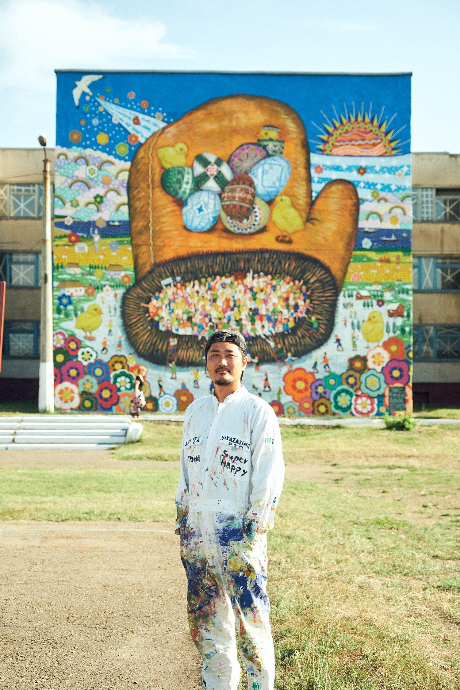 すぐには乗り越えがたい問題や困難な状況があっても、みなで明るい壁画を描くことで光を作り出そうとする。ミヤザキさんの主宰する「Over the Wall」は2018年8月、南米のエクアドルでプロジェクトを実施予定。