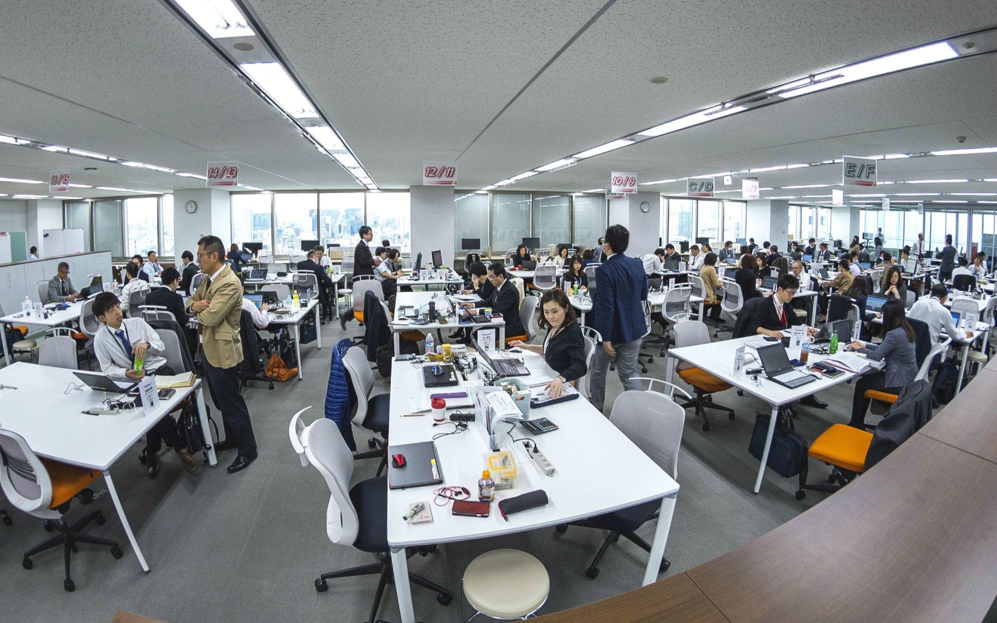 JALで最初にフリーアドレスオフィスを導入した調達本部。