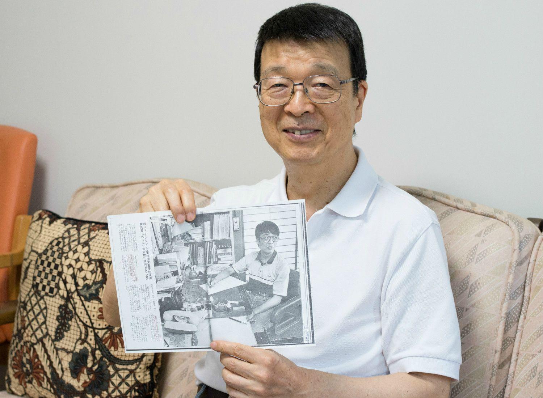 35歳、文春漫画賞受賞当時の記事と一緒に 「懐かしいねえ」