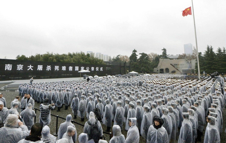 2016年12月、南京市の南京大虐殺記念館で行われた犠牲者追悼式典 ©共同通信社
