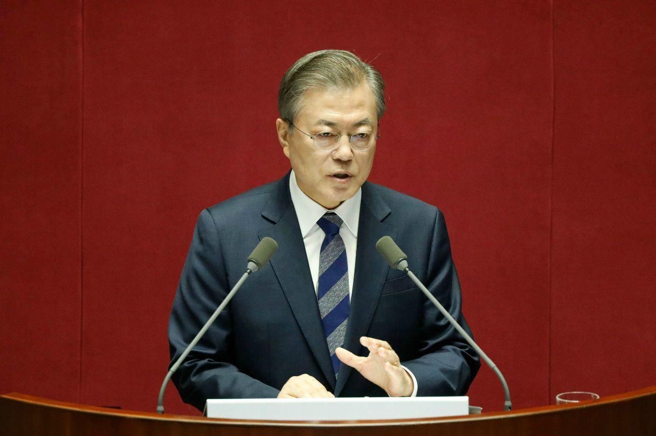 文在寅・韓国大統領 ©時事通信社