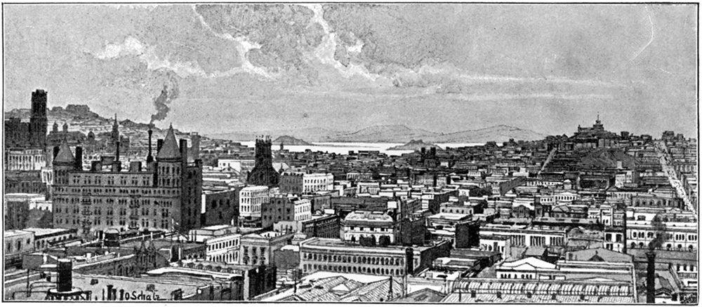 1901年のサンフランシスコ ©getty