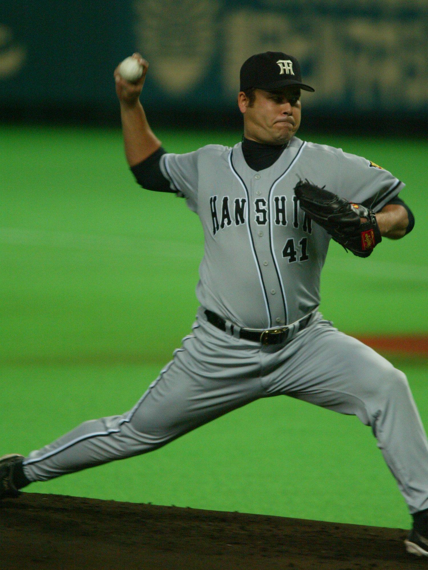 2003年のリーグ優勝に大きく貢献した伊良部秀輝 ©文藝春秋