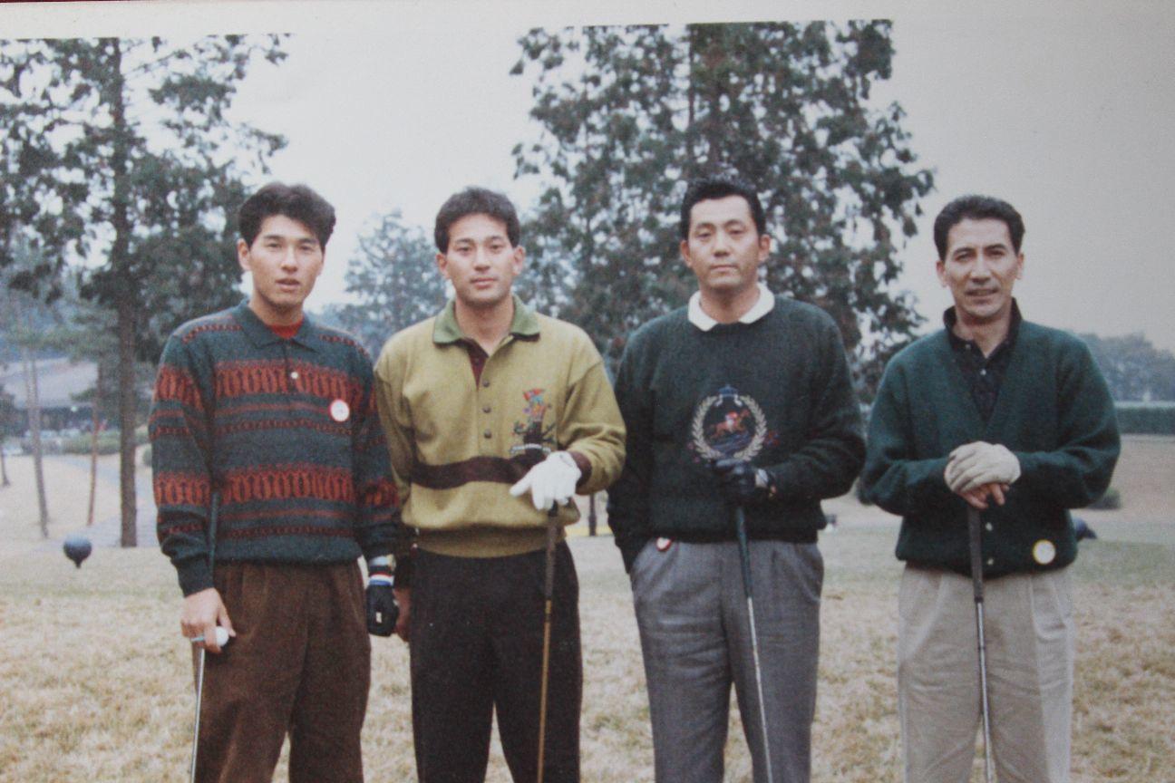 ゴルフコンペにて 右から2番目が森、その左隣が伊東勤(現ロッテ監督) ©中川充四郎
