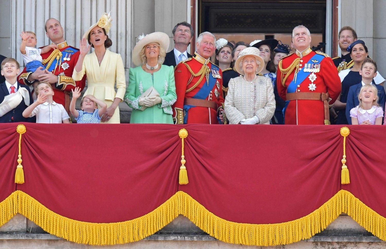 6月8日、エリザベス女王93歳の誕生日祝賀行事 ©AFP/AFLO
