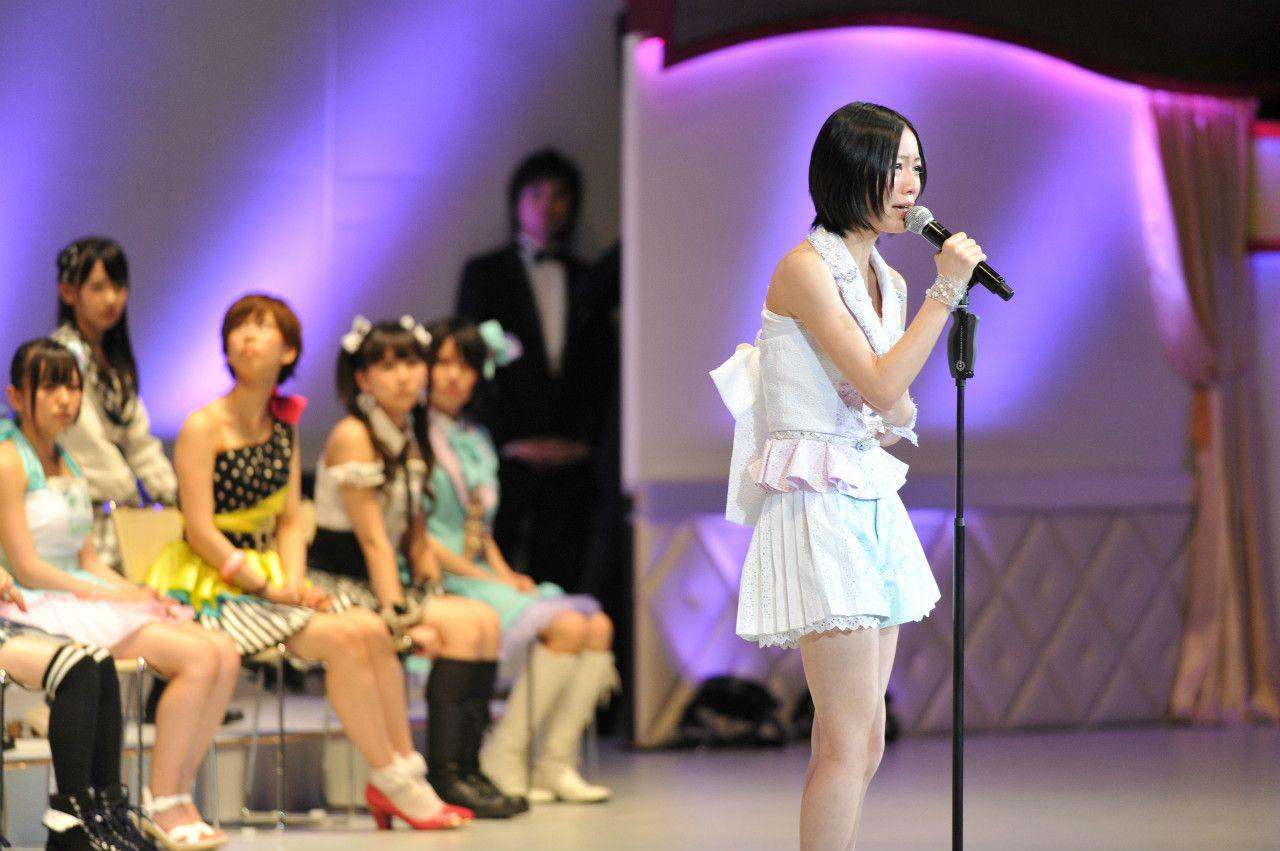 2012年第4回総選挙での松井珠理奈 ©文藝春秋