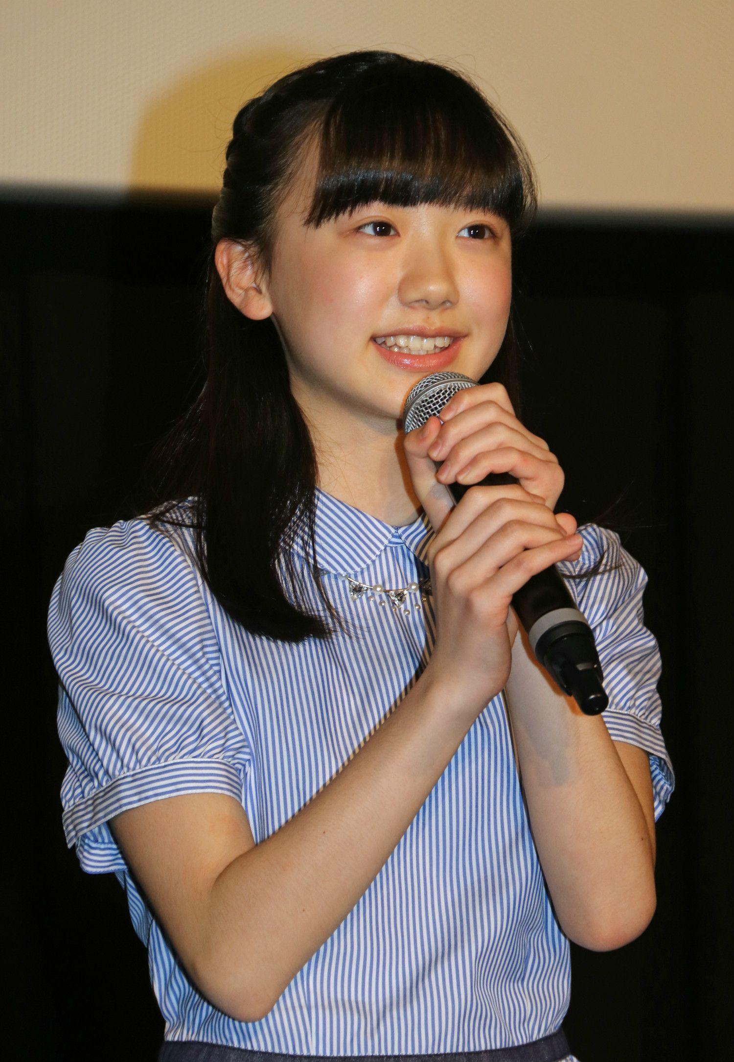 映画「バーニング・オーシャン」公開直前イベントにゲストとして登壇した芦田愛菜。 ©時事通信社