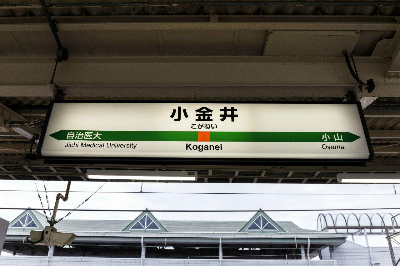 小金井駅の駅名標