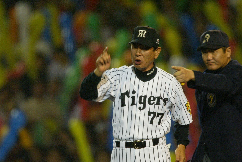昨年12月、金本監督に「2年後にリーグ制覇を果たすのや」と伝えていた星野仙一氏 ©文藝春秋