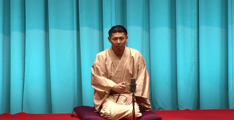 今年6月15日、東京・有楽町朝日ホールで襲名披露興行を行う。故立川談志師匠に教わった「五貫裁き」を熱演。写真提供CONCEPT LAB