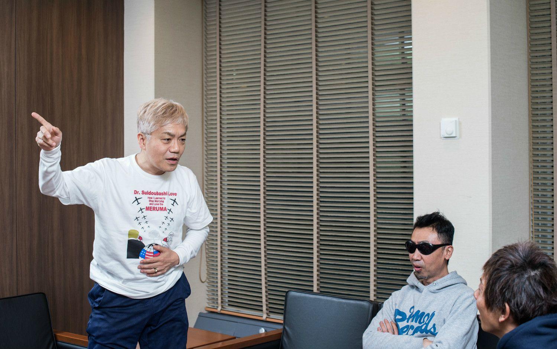 (左より)水道橋博士さん、カンパニー松尾さん、しみけんさん
